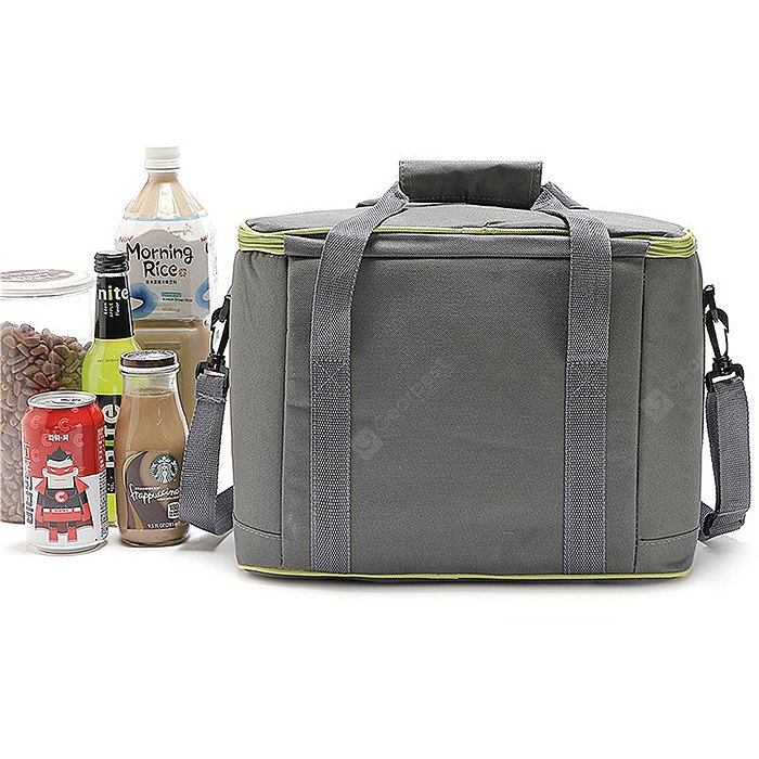 Fashionable Multifunctional High-capacity Bento Bag HORIZONTAL GREEN