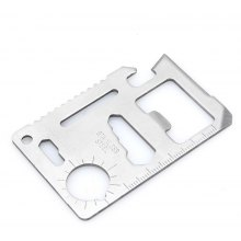 2PCS Card Style Stainless Steel Multifunctional EDC Tool