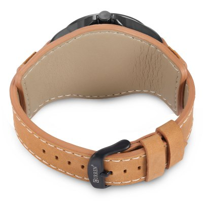 8279 Quartz Men WatchMens Watches<br>8279 Quartz Men Watch<br><br>Band material: Genuine Leather<br>Brand: Curren<br>Case material: Alloy<br>Display type: Analog<br>Hour formats: 12 Hour<br>Movement type: Quartz watch<br>Package Contents: 1 x Watch, 1 x Box<br>Package size (L x W x H): 26.40 x 5.30 x 2.30 cm / 10.39 x 2.09 x 0.91 inches<br>Package weight: 0.2200 kg<br>Product size (L x W x H): 25.40 x 4.30 x 1.30 cm / 10 x 1.69 x 0.51 inches<br>Product weight: 0.0720 kg<br>The band width: 2.2cm<br>The dial diameter: 4.3cm<br>The dial thickness: 1.3cm<br>Watches categories: Men<br>Water resistance : Life water resistant