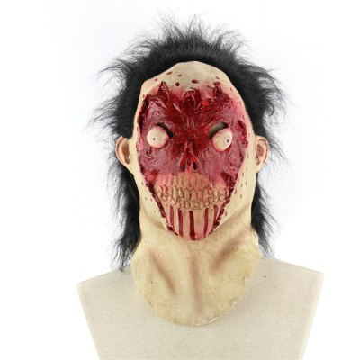 Scary Blood-covered Face Zombie Latex Mask