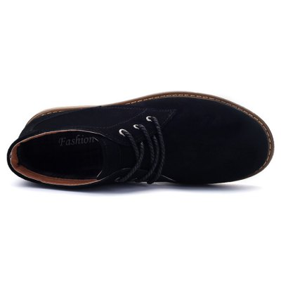 Men Medium Top British Casual Leather ShoesCasual Shoes<br>Men Medium Top British Casual Leather Shoes<br><br>Closure Type: Lace-Up<br>Contents: 1 x Pair of Shoes<br>Function: Slip Resistant<br>Materials: Suede, Rubber<br>Occasion: Casual<br>Outsole Material: Rubber<br>Package Size ( L x W x H ): 33.00 x 22.00 x 11.00 cm / 12.99 x 8.66 x 4.33 inches<br>Package Weights: 0.97kg<br>Seasons: Autumn,Spring,Winter<br>Style: Leisure, Casual<br>Type: Boots<br>Upper Material: Suede