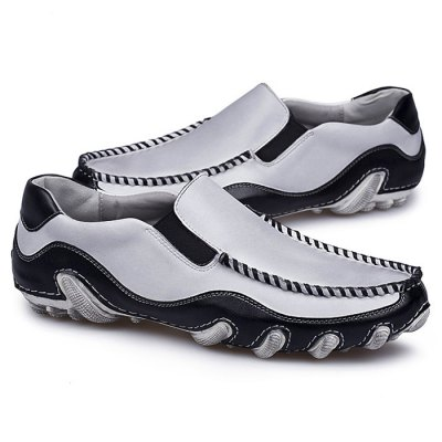 Men Breathable  Slip-on Lazy Shoes for DrivingCasual Shoes<br>Men Breathable  Slip-on Lazy Shoes for Driving<br><br>Closure Type: Slip-On<br>Contents: 1 x Pair of Shoes<br>Materials: Genuine Leather, Rubber<br>Occasion: Casual<br>Outsole Material: Rubber<br>Package Size ( L x W x H ): 33.00 x 22.00 x 11.00 cm / 12.99 x 8.66 x 4.33 inches<br>Package Weights: 0.87kg<br>Seasons: Autumn,Spring,Summer<br>Style: Leisure, Casual<br>Type: Casual Shoes<br>Upper Material: Leather
