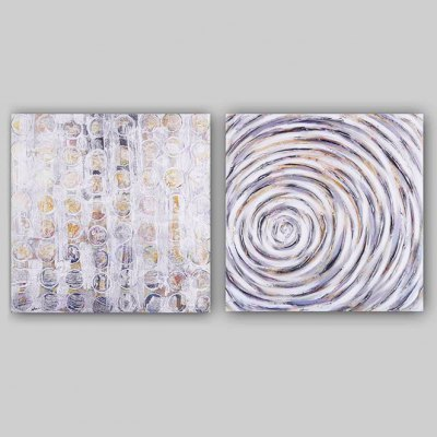 Oil Painting Gray Abstract Style Canvas Material DecorationOil Paintings<br>Oil Painting Gray Abstract Style Canvas Material Decoration<br><br>Brand: YHHP<br>Form: Two Panels<br>Package Quantity: 1 x Painting Set<br>Package size (L x W x H): 62.50 x 8.00 x 62.50 cm / 24.61 x 3.15 x 24.61 inches<br>Package weight: 2.5000 kg<br>Product size (L x W x H): 60.00 x 3.00 x 60.00 cm / 23.62 x 1.18 x 23.62 inches<br>Product weight: 1.5000 kg<br>Shape: Square<br>Theme: Abstract