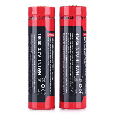 UltraFire 2PCS / Kit 3.7V 18650 Li-ion Rechargeable Battery hcho detector formaldehyde test air quality meter for home car