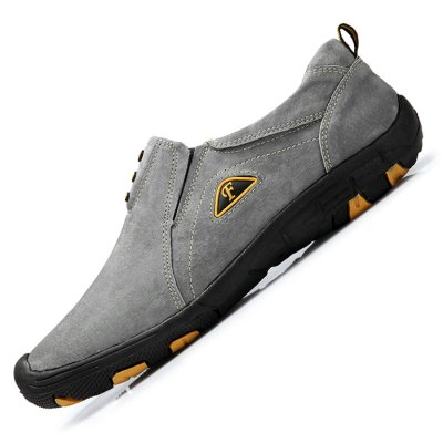 Men Outdoor Anti-slip Hiking / Climbing ShoesCasual Shoes<br>Men Outdoor Anti-slip Hiking / Climbing Shoes<br><br>Closure Type: Slip-On<br>Contents: 1 x Pair of Shoes<br>Function: Slip Resistant<br>Materials: Suede, Rubber<br>Occasion: Casual<br>Outsole Material: Rubber<br>Package Size ( L x W x H ): 33.00 x 24.00 x 13.00 cm / 12.99 x 9.45 x 5.12 inches<br>Package Weights: 0.92kg<br>Seasons: Autumn,Spring,Summer<br>Style: Comfortable, Casual<br>Type: Casual Shoes