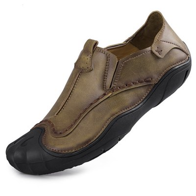 Microfiber Slip-on Handcrafted Leather Shoes for MenCasual Shoes<br>Microfiber Slip-on Handcrafted Leather Shoes for Men<br><br>Contents: 1 x Pair of Shoes<br>Function: Slip Resistant<br>Materials: Microfiber, Rubber<br>Occasion: Casual<br>Outsole Material: Rubber<br>Package Size ( L x W x H ): 33.00 x 22.00 x 11.00 cm / 12.99 x 8.66 x 4.33 inches<br>Package Weights: 0.87kg<br>Seasons: Autumn,Spring<br>Style: Leisure, Casual<br>Type: Casual Shoes