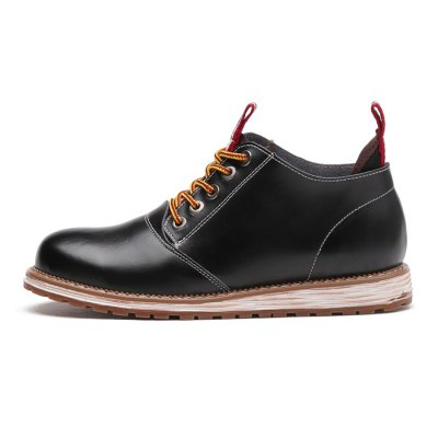 Men British Medium Top Lace-up BootsMens Boots<br>Men British Medium Top Lace-up Boots<br><br>Closure Type: Lace-Up<br>Contents: 1 x Pair of Shoes<br>Materials: Rubber, Leather<br>Outsole Material: Rubber<br>Package Size ( L x W x H ): 33.00 x 22.00 x 11.00 cm / 12.99 x 8.66 x 4.33 inches<br>Package Weights: 1.17kg<br>Seasons: Autumn,Spring<br>Style: Casual<br>Type: Boots<br>Upper Material: Leather