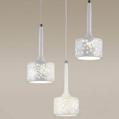 Modern Simple Iron Hollow Three Head Chandelier 220VPendant Light<br>Modern Simple Iron Hollow Three Head Chandelier 220V<br><br>Available Light Color: Warm White,White<br>Beam Angle: 360 degree<br>Body Color: White<br>Bulb Included: Yes<br>CCT/Wavelength: 3000K,6500K<br>Function: Home Lighting, Studio and Exhibition Lighting<br>Illumination Field: 8 - 15sqm<br>Luminous Flux: 500LM<br>Output Power: 8W<br>Package Contents: 1 x Light, 1 x Assembly Parts<br>Package size (L x W x H): 22.00 x 22.00 x 32.00 cm / 8.66 x 8.66 x 12.6 inches<br>Package weight: 6.0300 kg<br>Product size (L x W x H): 12.00 x 12.00 x 27.00 cm / 4.72 x 4.72 x 10.63 inches<br>Product weight: 5.0000 kg<br>Sheathing Material: Iron<br>Style: Trendy<br>Type: Chandeliers<br>Voltage (V): AC 220