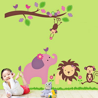 Animals PVC Removable Wall Sticker