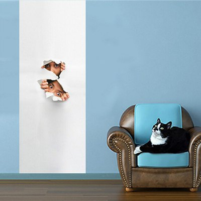 Peeping Child 3D Wall Sticker Wallpaper