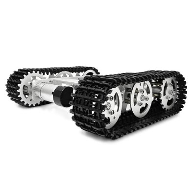 SZDoit Mini T100 Aluminum Alloy RC Tank Chassis DIY KitRC Car Parts<br>SZDoit Mini T100 Aluminum Alloy RC Tank Chassis DIY Kit<br><br>Brand: SZDoit<br>Package Contents: 1 x Chassis DIY Kit<br>Package size (L x W x H): 23.00 x 23.00 x 10.00 cm / 9.06 x 9.06 x 3.94 inches<br>Package weight: 1.0300 kg<br>Product size (L x W x H): 18.50 x 20.00 x 6.00 cm / 7.28 x 7.87 x 2.36 inches<br>Product weight: 0.6500 kg<br>Type: Vehicle Chassis