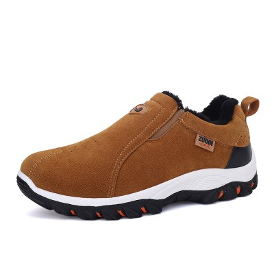 Plus Size Outdoor Slip-on Hiking Shoes for MenMen's Sneakers<br>Plus Size Outdoor Slip-on Hiking Shoes for Men<br><br>Closure Type: Slip-On<br>Contents: 1 x Pair of Shoes<br>Materials: Suede, Rubber<br>Occasion: Casual<br>Outsole Material: Rubber<br>Package Size ( L x W x H ): 33.00 x 22.00 x 11.00 cm / 12.99 x 8.66 x 4.33 inches<br>Package Weights: 0.97kg<br>Style: Leisure, Casual<br>Type: Hiking Shoes<br>Upper Material: Suede