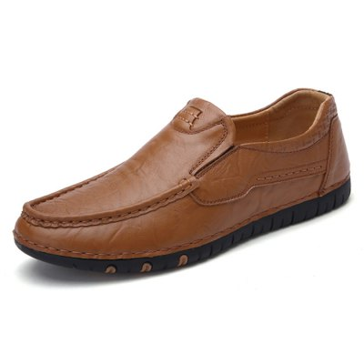 Genuine Leather Slip-on Driving Shoes for MenMen's Oxford<br>Genuine Leather Slip-on Driving Shoes for Men<br><br>Closure Type: Slip-On<br>Contents: 1 x Pair of Shoes<br>Function: Slip Resistant<br>Materials: Rubber, Genuine Leather<br>Occasion: Casual<br>Outsole Material: Rubber<br>Package Size ( L x W x H ): 33.00 x 24.00 x 13.00 cm / 12.99 x 9.45 x 5.12 inches<br>Package Weights: 0.92kg<br>Seasons: Autumn,Spring<br>Style: Leisure, Casual<br>Type: Casual Shoes<br>Upper Material: Genuine Leather