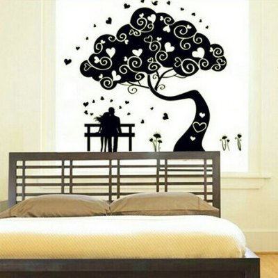 Lovers Tree Style Fluorescent Sticker