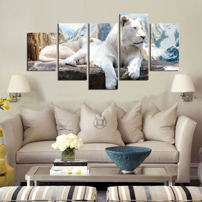 5PCS White Tiger Printed Oil Painting Canvas Wall StickerWall Stickers<br>5PCS White Tiger Printed Oil Painting Canvas Wall Sticker<br><br>Art Style: Oil Paiting<br>Functions: Decorative Wall Stickers<br>Hang In/Stick On: Bedrooms,Cafes,Hotels,Living Rooms,Offices<br>Material: Canvas<br>Package Contents: 5 x White Tiger Printed Oil Painting Canvas Wall Sticker<br>Package size (L x W x H): 42.00 x 6.00 x 6.00 cm / 16.54 x 2.36 x 2.36 inches<br>Package weight: 0.4200 kg<br>Product size (L x W x H): 150.00 x 80.00 x 0.10 cm / 59.06 x 31.5 x 0.04 inches<br>Product Type: Art Print<br>Product weight: 0.3600 kg<br>Subjects: Animal