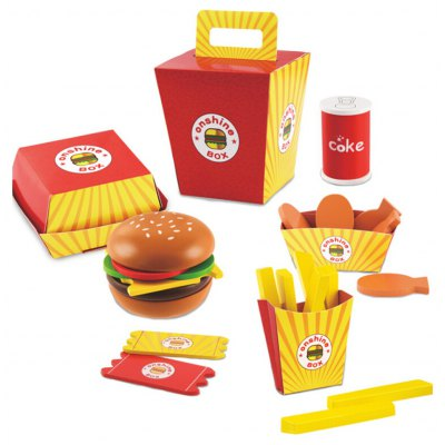 Wooden Fries Hamburger Combo Pretend Play Toy