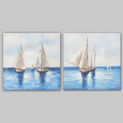 Canvas Oil Painting Sailing Hand Painted Home Decor