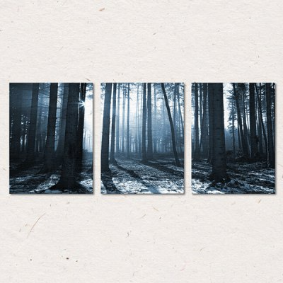 3PCS Forest PVC Print Abstract Wall Decor for Home Decoration