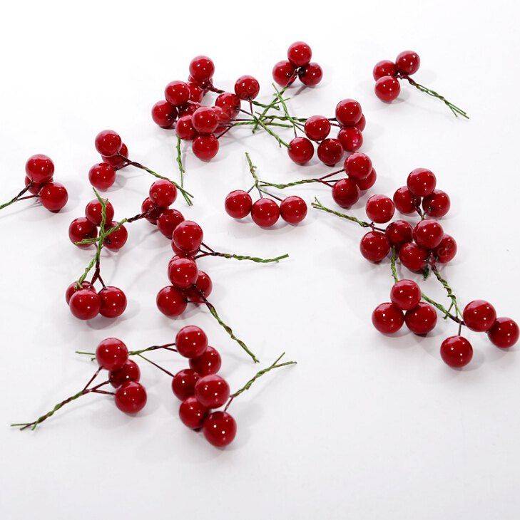 Cherry Fruit Christmas Decoration RED