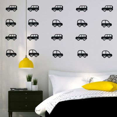 AY - 363 Creative DIY Sedan Car Style Wall Sticker 30pcs