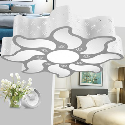 Simple Special-shaped Acrylic LED Ceiling Light 220VFlush Ceiling Lights<br>Simple Special-shaped Acrylic LED Ceiling Light 220V<br><br>Illumination Field: 12 - 20sqm<br>Package Contents: 1 x Ceiling Light, 1 x Remote Controller<br>Package size (L x W x H): 55.00 x 55.00 x 19.00 cm / 21.65 x 21.65 x 7.48 inches<br>Package weight: 3.5200 kg<br>Product size (L x W x H): 45.00 x 45.00 x 9.00 cm / 17.72 x 17.72 x 3.54 inches<br>Product weight: 3.0000 kg<br>Sheathing Material: Iron, Acrylic<br>Type: Ceiling Lights<br>Voltage (V): AC 220<br>Wattage (W): 24