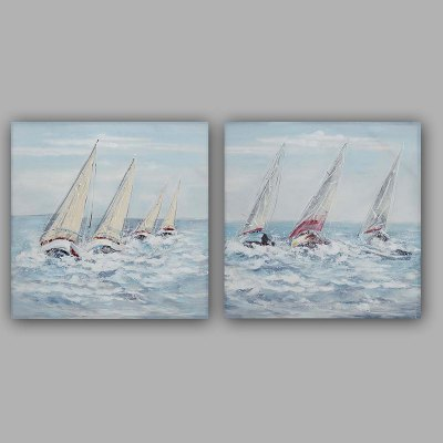 YHHP Oil Painting Modern Sailing Canvas Material Decoration
