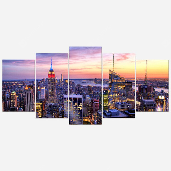 City Center PVC Print Abstract Wall Decor Home Decoration COLORFUL