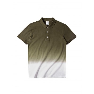 Gradient Polo T-shirt for MenMens Short Sleeve Tees<br>Gradient Polo T-shirt for Men<br><br>Fabric Type: Cotton<br>Neckline: Round Neck<br>Package Content: 1 x T-shirt<br>Package size: 30.00 x 35.00 x 0.50 cm / 11.81 x 13.78 x 0.2 inches<br>Package weight: 0.2500 kg<br>Product weight: 0.2000 kg<br>Season: Summer<br>Sleeve Length: Short Sleeves