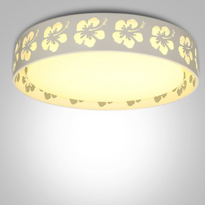 Simple Round Flower Decoration Acrylic Ceiling Lamp 220V