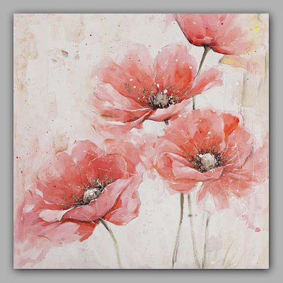 Hand Painted Flower Oil Painting Decorative Wall Art