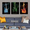 Buy YSDAFEN Guitar Printing Canvas Wall Decoration COLORMIX