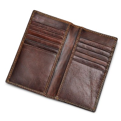 Stylish RFID Blocking Long Bifold Leather Wallet for MenWallets<br>Stylish RFID Blocking Long Bifold Leather Wallet for Men<br><br>Color: Brown<br>Features: Wearable<br>For: Shopping<br>Material: Leather<br>Package Size(L x W x H): 14.00 x 7.60 x 2.00 cm / 5.51 x 2.99 x 0.79 inches<br>Package weight: 0.0800 kg<br>Packing List: 1 x Wallet<br>Product weight: 0.0500 kg<br>Style: Fashion, Casual<br>Type: Wallet