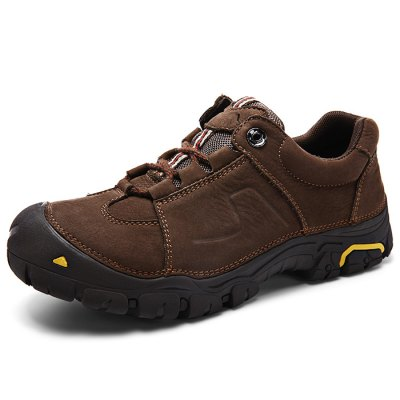 Men Comfortable Outdoor Lace-up Hiking ShoesAthletic Shoes<br>Men Comfortable Outdoor Lace-up Hiking Shoes<br><br>Closure Type: Lace-Up<br>Contents: 1 x Pair of Shoes<br>Function: Slip Resistant<br>Materials: Rubber, Genuine Leather<br>Occasion: Casual, Outdoor Clothing<br>Outsole Material: Rubber<br>Package Size ( L x W x H ): 33.00 x 22.00 x 11.00 cm / 12.99 x 8.66 x 4.33 inches<br>Package Weights: 1.17kg<br>Seasons: Autumn,Spring<br>Style: Comfortable<br>Type: Hiking Shoes<br>Upper Material: Genuine Leather