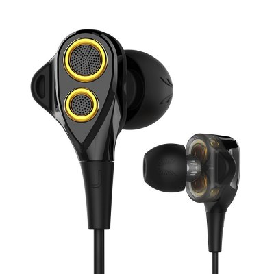 UIISII T8 In-ear Stereo Earphones with MicEarbud Headphones<br>UIISII T8 In-ear Stereo Earphones with Mic<br><br>Application: Gaming, Working, Sport, Running<br>Brand: UIISII<br>Compatible with: iPod, iPhone, Computer, Mobile phone, MP3, PC, Portable Media Player<br>Connectivity: Wired<br>Frequency response: 20-20000Hz<br>Function: Song Switching, Sweatproof, Voice control, Microphone, Answering Phone, Noise Cancelling<br>Impedance: 32ohms ± 5 percent<br>Language: No<br>Material: Metal<br>Model: T8<br>Package Contents: 1 x Earphones<br>Package size (L x W x H): 21.00 x 16.00 x 7.00 cm / 8.27 x 6.3 x 2.76 inches<br>Package weight: 0.2400 kg<br>Plug Type: L-Bend, 3.5mm<br>Product weight: 0.0170 kg<br>Sensitivity: 91±3dB<br>Type: In-Ear
