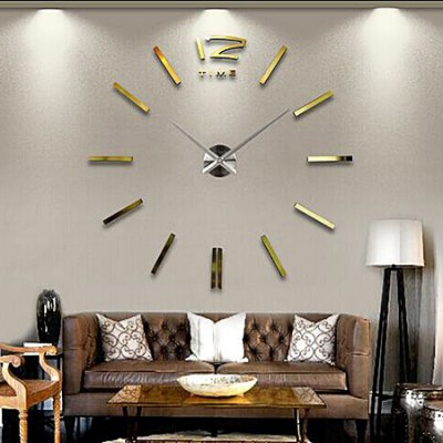 Timelike T4203 Creative DIY 3D Decal Large Wall Clock