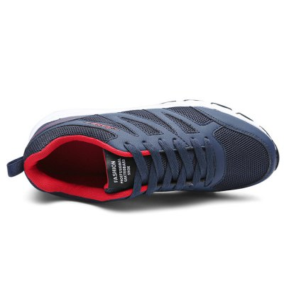 All-match MD Soles Leisure Sneakers for MenMen's Sneakers<br>All-match MD Soles Leisure Sneakers for Men<br><br>Closure Type: Lace-Up<br>Contents: 1 x Pair of Shoes<br>Decoration: Stripe<br>Function: Slip Resistant<br>Materials: MD, Mesh<br>Occasion: Riding, Running, Sports, Casual<br>Outsole Material: MD<br>Package Size ( L x W x H ): 33.00 x 22.00 x 11.00 cm / 12.99 x 8.66 x 4.33 inches<br>Package Weights: 0.77kg<br>Seasons: Autumn,Spring,Summer<br>Style: Leisure, Casual<br>Type: Sports Shoes<br>Upper Material: Mesh
