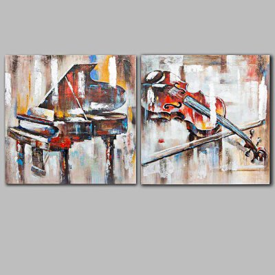 Modern Hand Painted Canvas Instruments Oil Painting