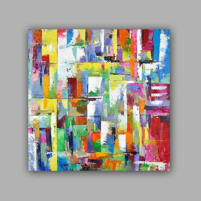 Hand Painted Colorful Abstract Style Oil Painting Decoration