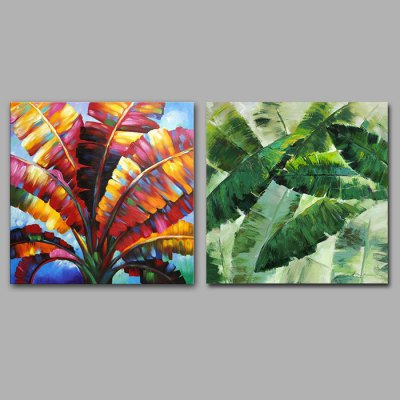 Hand Painted Leaf Oil Painting Decorative Wall Art