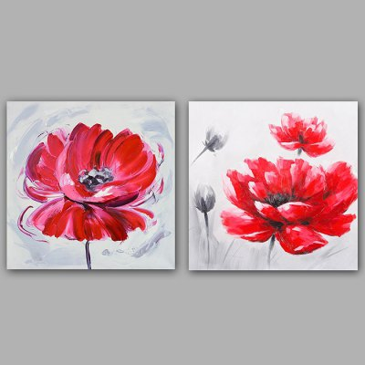 Oil Painting Modern Flower Bicycle Canvas Material Decoration