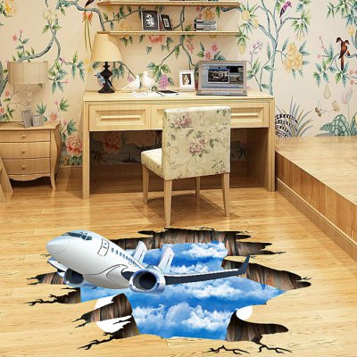 3D Sky Plane Pattern Home Decoration StickerWall Stickers<br>3D Sky Plane Pattern Home Decoration Sticker<br><br>Art Style: Plane Wall Stickers<br>Functions: Decorative Wall Stickers<br>Hang In/Stick On: Bedrooms,Cafes,Kids Room,Living Rooms,Toilet<br>Material: Self-adhesive Plastic, Vinyl(PVC)<br>Package Contents: 1 x Sticker<br>Package size (L x W x H): 60.00 x 5.00 x 5.00 cm / 23.62 x 1.97 x 1.97 inches<br>Package weight: 0.2700 kg<br>Product size (L x W x H): 60.00 x 90.00 x 0.10 cm / 23.62 x 35.43 x 0.04 inches<br>Product weight: 0.2000 kg