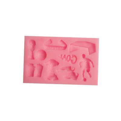 Multifunctional Football Style Silicone MouldCake Molds<br>Multifunctional Football Style Silicone Mould<br><br> Product weight: 0.0550 kg<br>Material: Silicone<br>Package Contents: 1 x Mould<br>Package size (L x W x H): 10.80 x 7.00 x 1.60 cm / 4.25 x 2.76 x 0.63 inches<br>Package weight: 0.0800 kg<br>Product size (L x W x H): 9.80 x 6.00 x 1.10 cm / 3.86 x 2.36 x 0.43 inches<br>Type: Other Kitchen Accessories