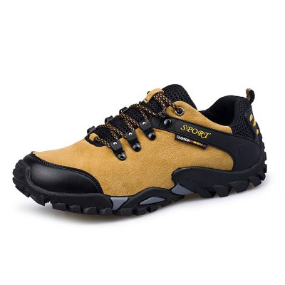 Men Comfortable Suede Outdoor Anti-slip Hiking ShoesMen's Sneakers<br>Men Comfortable Suede Outdoor Anti-slip Hiking Shoes<br><br>Contents: 1 x Pair of Shoes<br>Materials: Genuine Leather, Rubber, Suede<br>Package Size ( L x W x H ): 33.00 x 22.00 x 11.00 cm / 12.99 x 8.66 x 4.33 inches<br>Package Weights: 1.02kg<br>Type: Hiking Shoes
