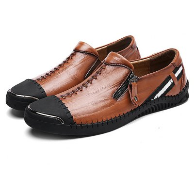 Special Zipper Casual Leather Shoes for Men