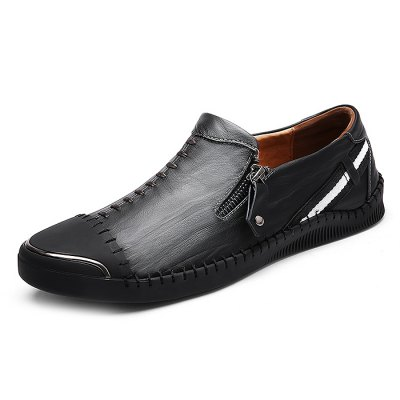 Special Zipper Casual Leather Shoes for MenMen's Oxford<br>Special Zipper Casual Leather Shoes for Men<br><br>Closure Type: Slip-On<br>Contents: 1 x Pair of Shoes<br>Function: Slip Resistant<br>Materials: Genuine Leather, Rubber<br>Outsole Material: Rubber<br>Package Size ( L x W x H ): 33.00 x 22.00 x 11.00 cm / 12.99 x 8.66 x 4.33 inches<br>Package Weights: 0.97kg<br>Style: Comfortable, Casual<br>Type: Casual Leather Shoes<br>Upper Material: Genuine Leather