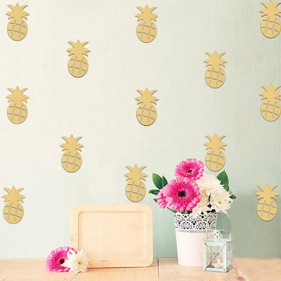 YS - 62 Creative DIY Pineapple Wall Sticker 12pcsWall Stickers<br>YS - 62 Creative DIY Pineapple Wall Sticker 12pcs<br><br>Art Style: Plane Wall Stickers<br>Functions: Decorative Wall Stickers<br>Material: Acrylic<br>Package Contents: 12 x Wall Sticker, 12 x Dot Glue<br>Package size (L x W x H): 15.00 x 12.00 x 2.00 cm / 5.91 x 4.72 x 0.79 inches<br>Package weight: 0.0900 kg<br>Product size (L x W x H): 8.50 x 8.00 x 0.20 cm / 3.35 x 3.15 x 0.08 inches<br>Product weight: 0.0600 kg<br>Subjects: Others