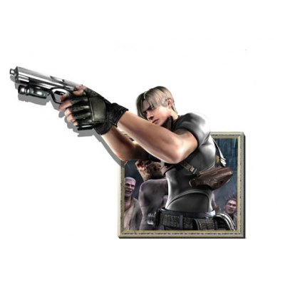 Removable Creative Gunner 3D Wall Sticker Wallpaper