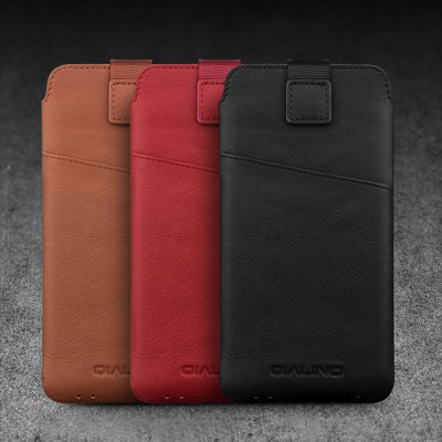 QIALINO Genuine Leather PouchSamsung S Series<br>QIALINO Genuine Leather Pouch<br><br>Brand: QIALINO<br>Compatible with: Samsung Galaxy S8, Samsung Galaxy S8 Plus<br>Features: Anti-knock, Full Body Cases, With Credit Card Holder<br>Material: Genuine Leather<br>Package Contents: 1 x Phone Case<br>Package size (L x W x H): 20.00 x 11.70 x 3.70 cm / 7.87 x 4.61 x 1.46 inches<br>Package weight: 0.1740 kg<br>Product size (L x W x H): 16.20 x 8.10 x 1.00 cm / 6.38 x 3.19 x 0.39 inches<br>Product weight: 0.0310 kg<br>Style: Modern, Solid Color, Cool