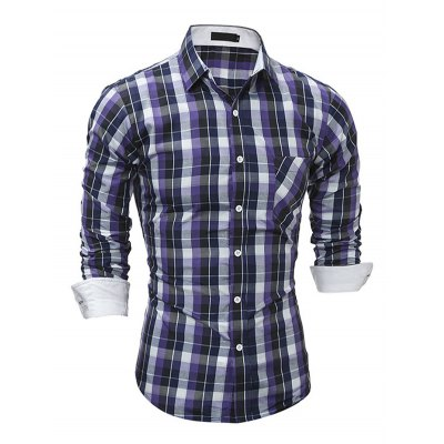 Men Fashion Button Down Long Sleeve Plaid ShirtMens Shirts<br>Men Fashion Button Down Long Sleeve Plaid Shirt<br><br>Material: Cotton, Polyester<br>Package Contents: 1 x Shirt<br>Package size: 40.00 x 30.00 x 3.00 cm / 15.75 x 11.81 x 1.18 inches<br>Package weight: 0.2800 kg<br>Product weight: 0.2200 kg