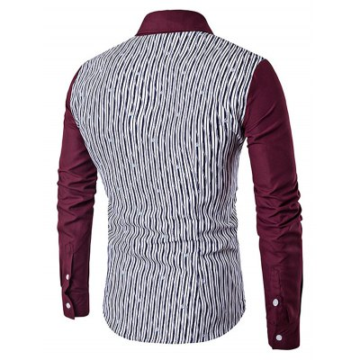 Men Casual Button Down Long Sleeve Splicing ShirtMens Shirts<br>Men Casual Button Down Long Sleeve Splicing Shirt<br><br>Material: Cotton, Polyester<br>Package Contents: 1 x Shirt<br>Package size: 40.00 x 30.00 x 3.00 cm / 15.75 x 11.81 x 1.18 inches<br>Package weight: 0.3100 kg<br>Product weight: 0.2500 kg